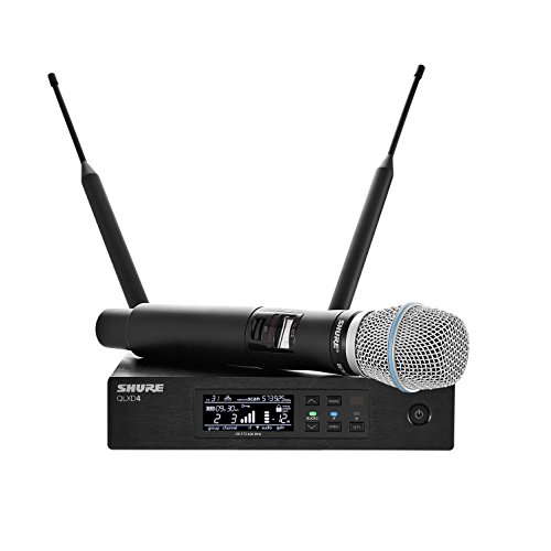 Shure QLXD24/B87A Handheld Wireless System with BETA 87A Vocal Microphone, G50 (Handheld Vocal Supercardioid Microphone)