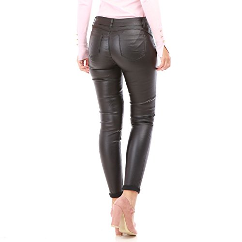 Enduit Up Effet Noir Push Femme La Pantalon Slim Modeuse wqxUI0v