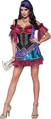 InCharacter Costumes Women's Flirty Fortune Teller Costume, Multi, Small ()