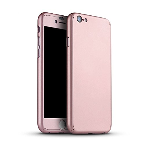 iPhone 6/6s Case,I3C 360 All Round Protective Case for iPhone 6/6s Plus 5.5 Inch iPhone 6/6s Plus Case Rose Gold