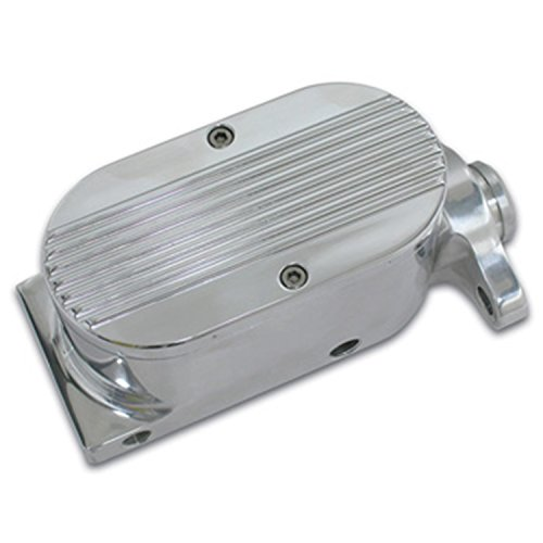 """SSBC A0467-2 Billet Aluminum 1"""" Bore Dual Bowl GM-Mount Master Cylinder with Finned Cap"""