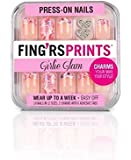 Fing'rsprint Girlie Glam Press on Nail Pretty Petals 24 Nails by Fing'rs