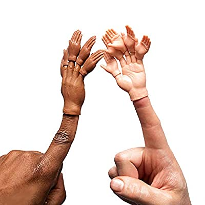 ACC Set of Ten Mini Rubber Finger Hands for Tiny Finger Hands Puppets: Toys & Games
