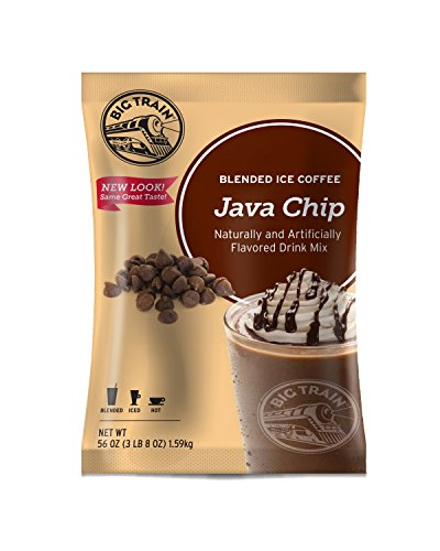 Big Train Blended Ice Coffee, Java Chip, 3.5 Pound, Powdered Instant Coffee Drink Mix, Serve Hot or Cold, Makes Blended Frappe Drinks