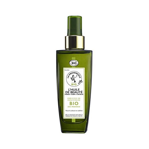 La Provençale – L'Huile de Beauté Visage Corps Cheveux – Soin Certifié Bio – Huile d'Olive Bio AOC Provence – Pour Tous…