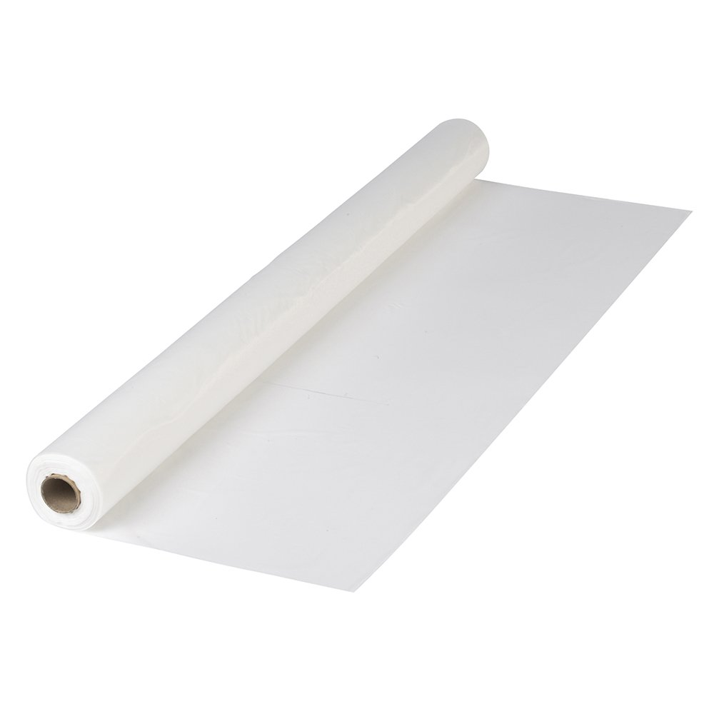 Hoffmaster 470-000 Plastic Disposable Tablecover Roll, White by Hoffmaster