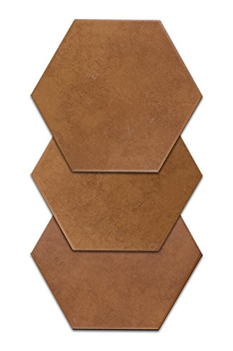 Cotto Tile Flooring (Hexatile Cotto Caldera 7x8 | Hexagon Porcelain Tile)