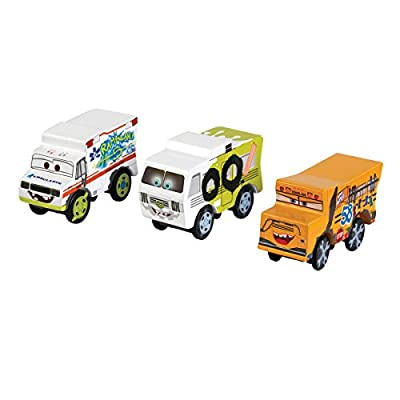Disney KIDKRAFT Pixar Cars 3 Thunder Hollow 3pk Wooden Cars with Dr. Damage, Miss Fritter, Arvy: Toys & Games