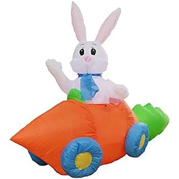 Amazon.com: 5 foot largo fiesta hinchable conejo en ...