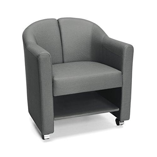 OFM 880-SLT Mobile Club Chair, Slate/Charcoal Gray