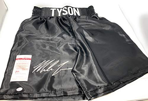 Mike Tyson Signed Autograph Boxing Trunks TYSON embroidered Limited Edition Trunks JSA Witnessed Certified from Mister Mancave