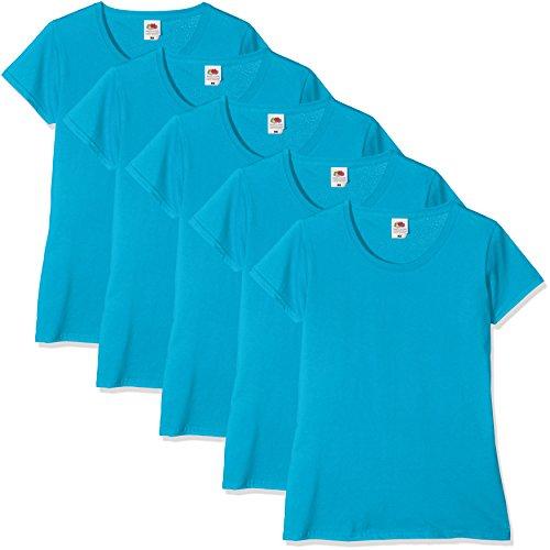 donna pacco blu 5 Zu Of da Loom Maglietta Fruit The Blu da azzurro q6BYg5n