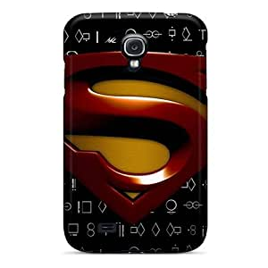 Slim Fit Tpu Protector Shock Absorbent Bumper Superman Logo Case For Galaxy S4