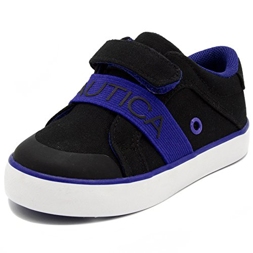 Nautica Outhaul Toddler Sneakers Adjustable Straps Athletic Fashion Shoes-Black - Shoes Toddler Jordan 5 Size