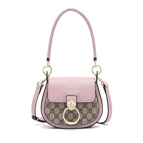 Cooserry Crossbody Saddle Bags Diamond Ring Satchel Shoulder Handbags for Women