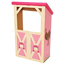 Pink Cowgirl Room Decorations - Barn Stable Cardboard Playhouse Stand In Photo Prop