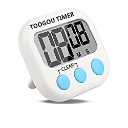 Large LCD Digital Kitchen Cooking Timer Count-Down Up Clock Loud Alarm Magnetic by Toogou
