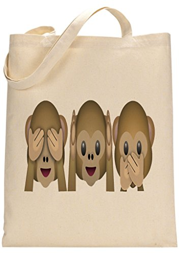 Monkey Emoji Funny Custom Made Tote Bag