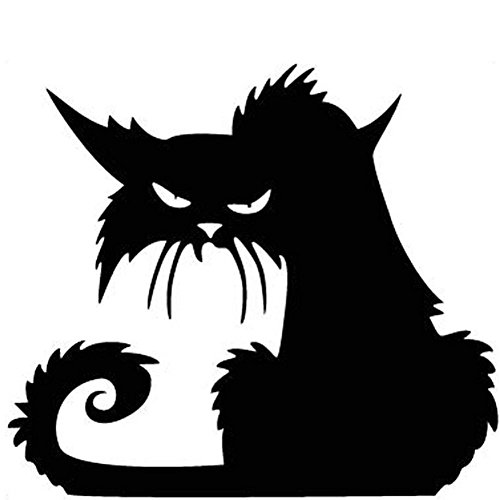 Fashionclubs Vinly Black Cat Removable Window Wall Sticker For Halloween Home -