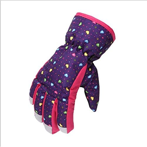 Les garçons mignons de filles d'enfants de bande dessinée de YULAN épaississent les gants chauds chauds d'hiver pour 5-8 ans