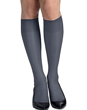Hanes Womens Silk Reflections Silky Sheer Knee High RT 6 Pack (00775)