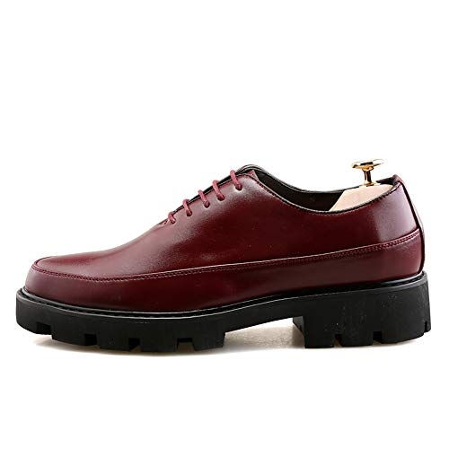 Negocio línea del Inferior del con los los de Informal Cuero Formales Parte Oxford la de Suave Rojo La Nueva Zapatos Gruesa Hombres 8qwUSS