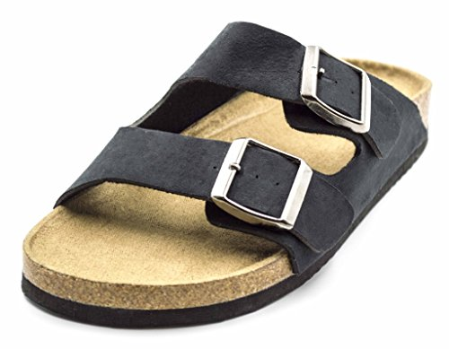 Orly Shoes Women's Maria Slide Strap Buckle Sandal in Black Size: S (6/7) (One Strap Sandal)