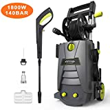 Pressure Washer, AUTLEAD Professional High-Pressure Cleaner HP02A (1800W, 140 Bar, 468 L/H, IPX5, Rated: 110 Bar, Max: 140 Bar, Two Jets, TSS Safety System, 5M Cord)