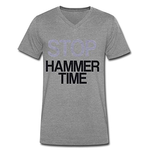 Hammer Time T-shirt - CaiGuiShi Neck Short Sleeve Cotton T Shirt For Men Stop Hammer Time Tee Shirts SizeKey1DeepHeather