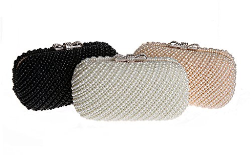 Falso reborde imitación de la blanco boda de diamantes de marco de incorporado brillo HONGCI perlas noche novia bolso banda de bolso de xEwZd1