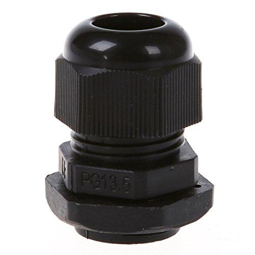 TOOGOO(R) 5 Pcs PG13.5 Black Plastic Waterproof Connectors Cable Glands by TOOGOO(R) (Image #5)