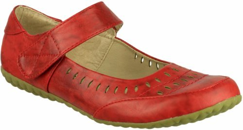 femme Leaf Boulevard Mary Red Holes Janes pour OWFv1