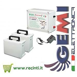 Pastores eléctricos 12 V Extrafuerte + 2 baterías - Electrificadores para Cerca eléctrica GEMI
