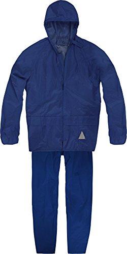 Unisex - Erwachsene Regenanzug (Jacke und Hose) - 100 % wasserdicht Farbe Marine Größe XL