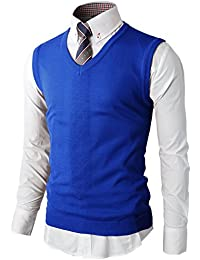 H2H Mens Various Color Casual Slim Fit Knit Vest