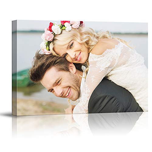 SIGNFORD Custom Canvas Prints, Marriage Photos Personalized Poster Wall Art with Your Photos Wood Frame Digitally - Prints Frame Canvas