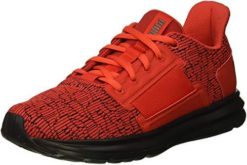 PUMA Unisex ENZO Street Marble JR Sneaker Flame Scarlet Black, 6 M US Big Kid ()