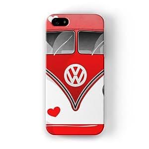 Campervan Hearts Funda Completa de Alta Calidad con Impresión 3D, Snap-On, Diseño Negro Formato Duro parar Apple® iPhone 5 / 5s de DevilleArt