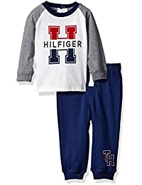 Tommy Hilfiger Baby Boys' Jersey Top with Fleece Pants Set