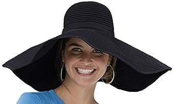 Coolibar UPF 50+ Women's Shapeable Poolside Sun Hat (Black - One Size)