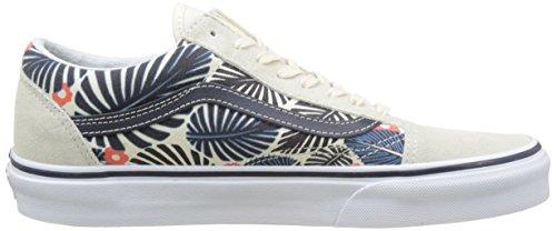 Vans UA Old Skool, Sneakers Basses Homme Ivoire (Tropic Havana Classic White/french Blue)