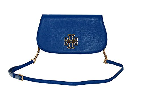 Leather Tory handbag Burch Blue 39055 Britten Bondi Women's Chain Crossbody Clutch r5r1wqx