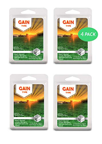 BAC Home Gain Type Soy Blend Scented Wax Melts Wax Cubes, 2.5 oz, [6 Cubes] (4) ()