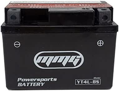 MMG YTX4L-BS 4L-BS 12v Battery for Honda, Hyosung, SYM, Yamaha 50cc Scooters