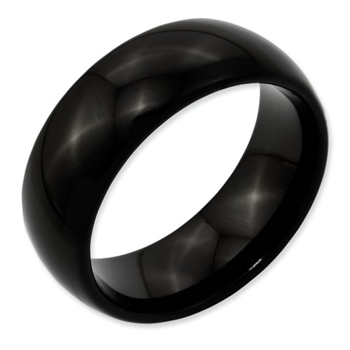Best Quality Free Gift Box Titanium Black Ti 8mm Polished Band