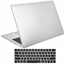 ProCase MacBook Pro 13 Case 2019 2018 2017 2016 Release A2159 A1989 A1706 A1708, Hard Case Shell Cover and Keyboard Skin Cover for Apple MacBook Pro 13 Inch with/Without Touch Bar and Touch ID –Silver