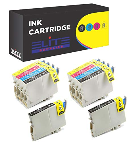 Aria Supplies Remanufactured 10 Pack Inkjet Cartridges for Epson T060 T060120 T060220 T060320 T060420 Compatible with Stylus C68, C88, C88Plus, CX3800, CX3810, CX4200, CX4800, CX5800F, -