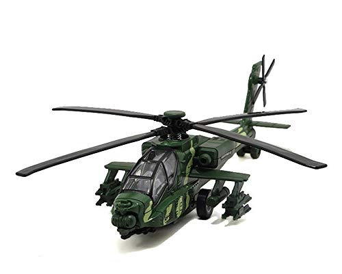 11.2 inch Pull Back Military Helicopter Toy with Lights and Sounds Army Plane for Kids Children Boys Girls