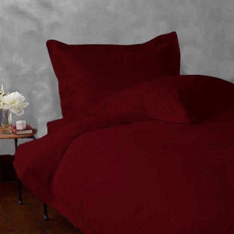 d Sheet Set Burgundy Solid in 100% Egyptian Cotton-900 Thread Count ()