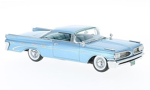 Pontiac Bonneville Hardtop - Pontiac Bonneville Hardtop, metallic-light blue, 1959, Model Car, Ready-made, Neo 1:43